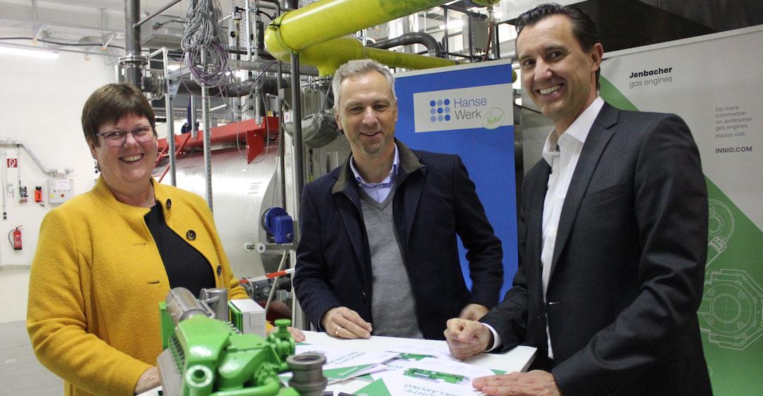 Hansewerk betreibt Megawatt-BHKW mit grünem Wasserstoff