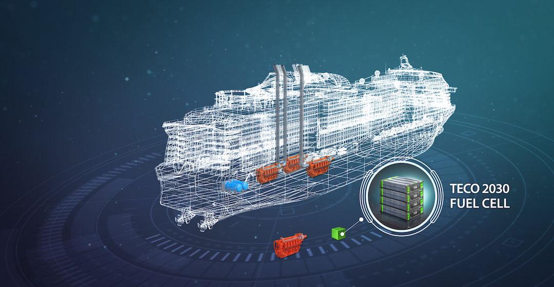 Teco 2030 stellt Brennstoffzellenkonzept für emissionsfreien Schiffsantrieb vor