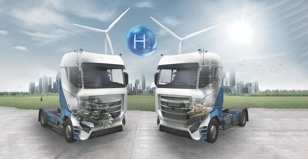 Sowohl H2-Motoren als auch Brennstoffzellen haben ihren Platz beim Antrieb von schweren Lkw
