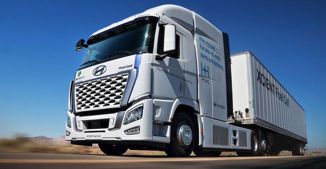 Hyundai bringt den Brennstoffzellen-Lkw XCIENT in Kalifornien auf die Straße