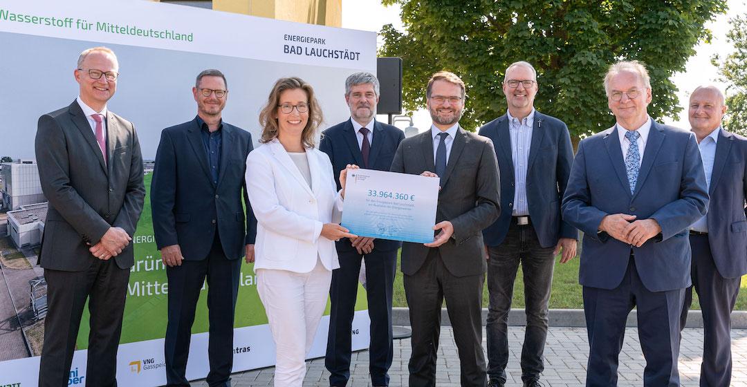 Energiepark Bad Lauchstädt bekommt 34 Millionen Euro für Wasserstoffprojekte