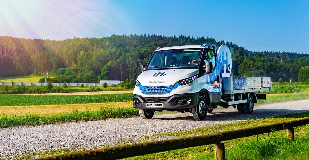 Quantron bringt Transporter mit Wasserstoffantrieb auf den Markt